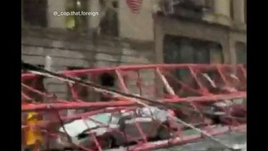 VIDEO: WN 02/05/16: Deadly Crane Collapse in NYC