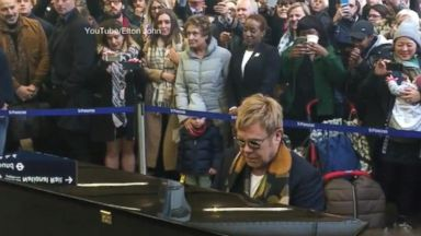 VIDEO: Sir Elton Johns Special Gift to Commuters in London