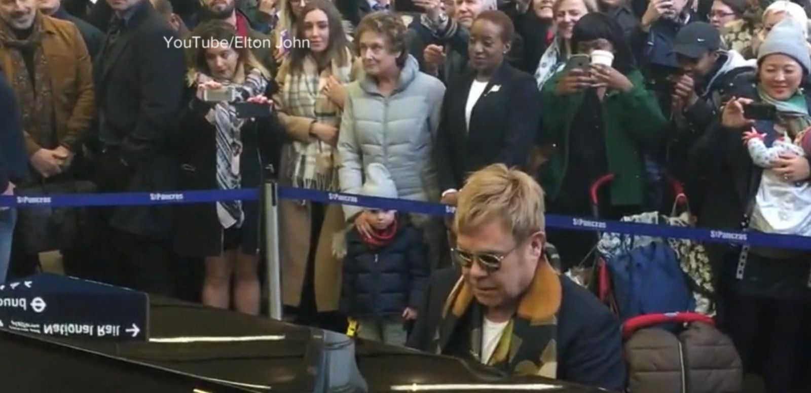 VIDEO: Sir Elton John's Special Gift to Commuters in London