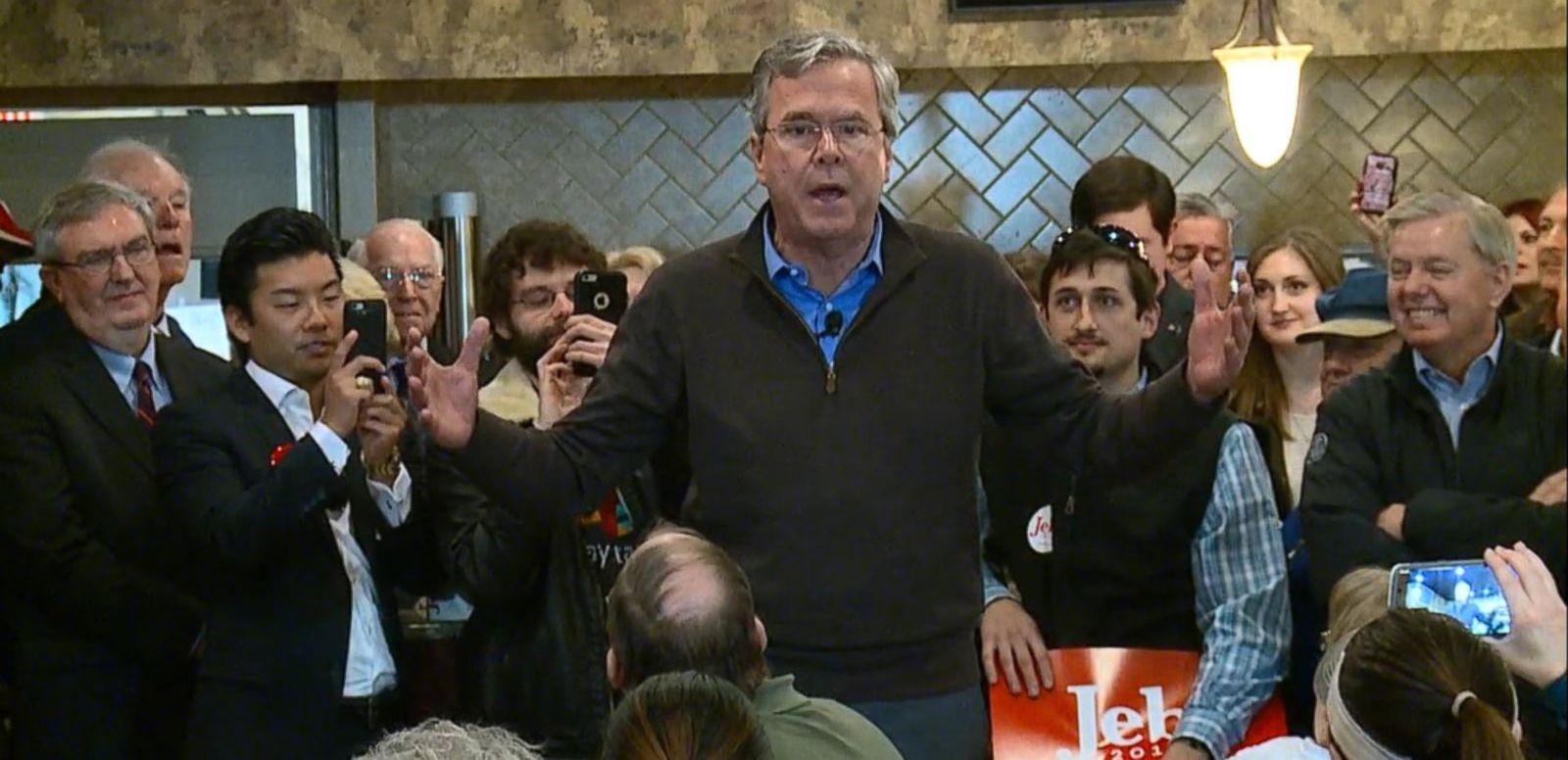 VIDEO: Jeb Bush on Trail Talking About Trump