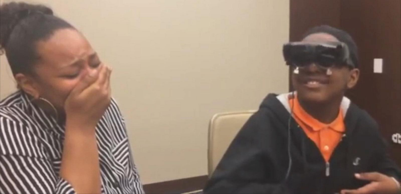 VIDEO: A Legally Blind Tween Sees His Mother for the First Time