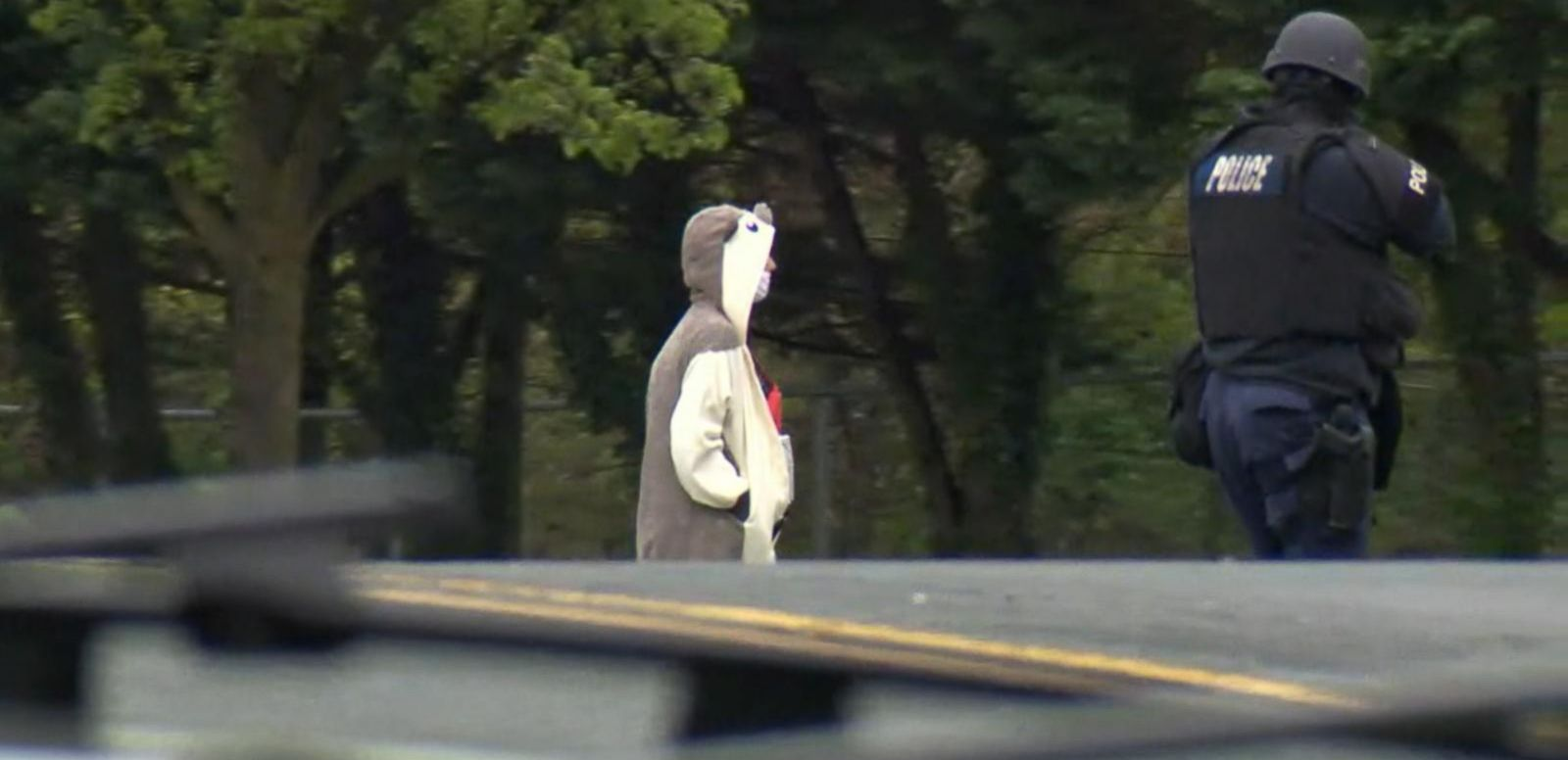 VIDEO: Man Dressed in Bizarre Animal Costume Threatens TV Station With Fake Suicide Vest