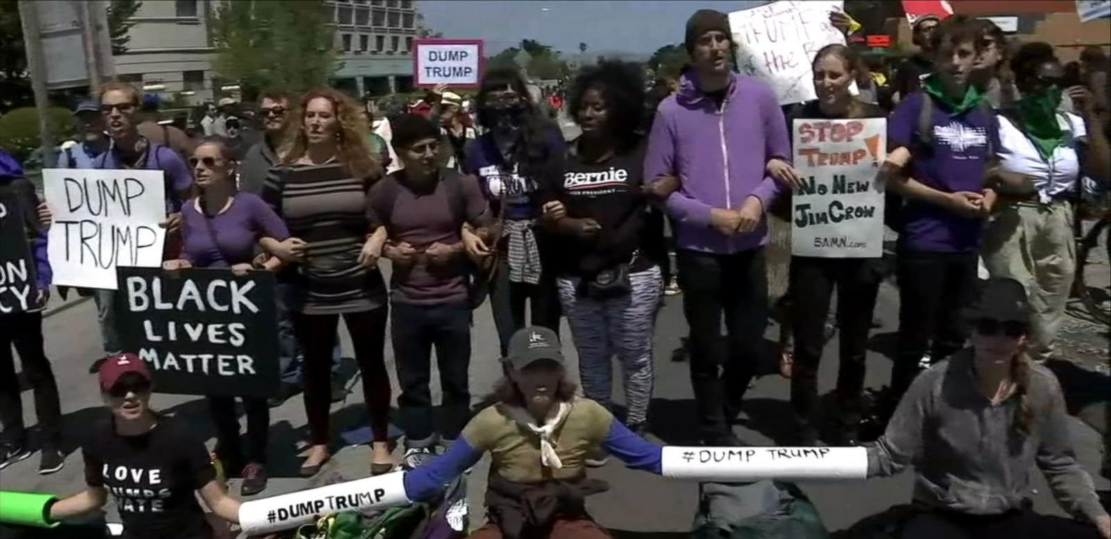 VIDEO: Donald Trump Enters Through Back Door to Avoid Waves of Protestors
