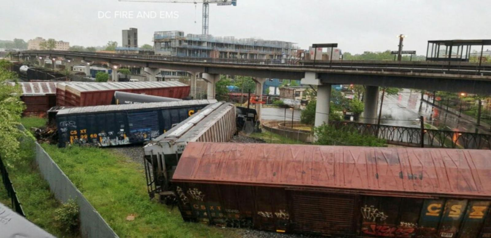 VIDEO: Toxic Chemicals Spilled After a Train Crashes Outside the Nation's Capital