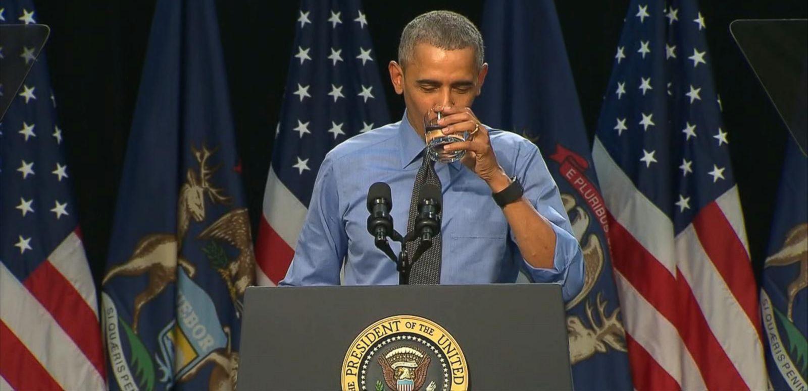 VIDEO: President Drinks Tap Water on Trip to Flint, Michigan