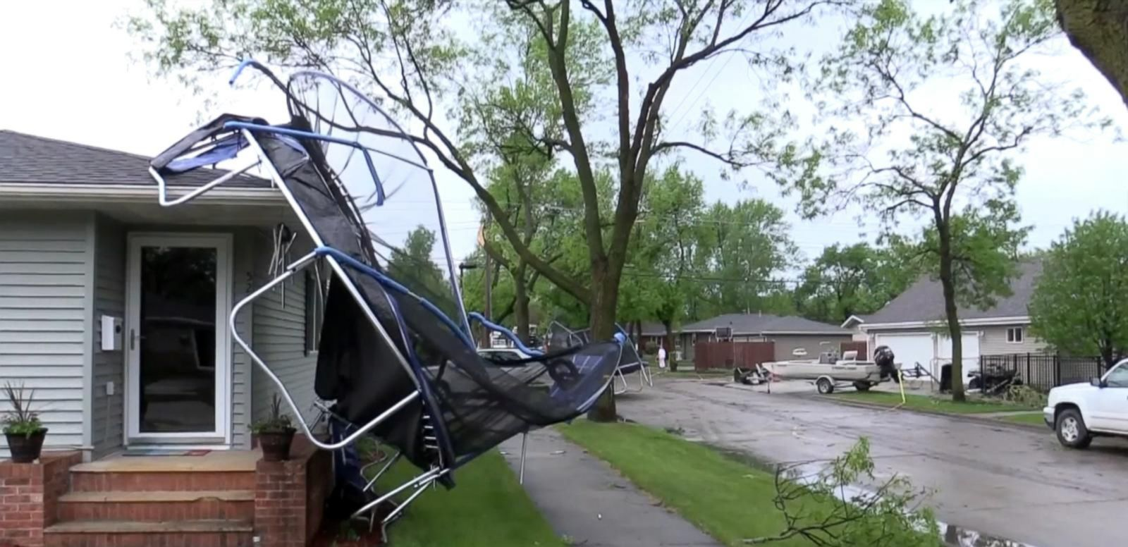VIDEO: Powerful Winds Snap Trees, Damage Homes in North Dakota