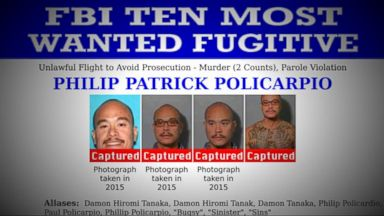 VIDEO: Index: One of the FBIs 10 Most Wanted Fugitives Philip Patrick Policarpio Captured