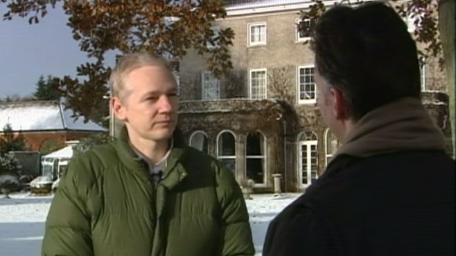 VIDEO: WikiLeaks founder talks to ABCs Jim Sciutto after his jail release.