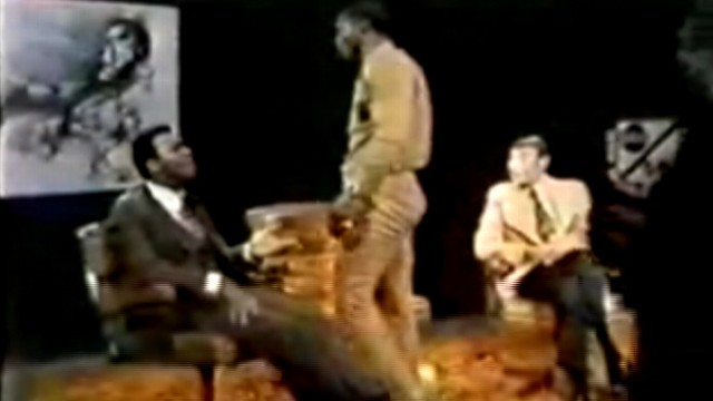 """VIDEO: Argument leads to brawl on 1974 ABCs """"Wide World of Sports"""" interview."""