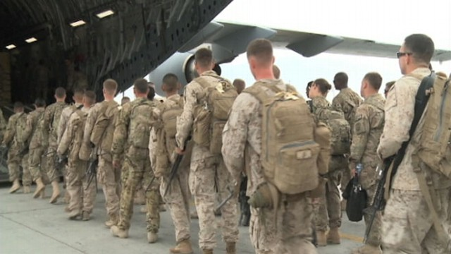 VIDEO: Additional troops deployed by President Obama two years ago on their way home.