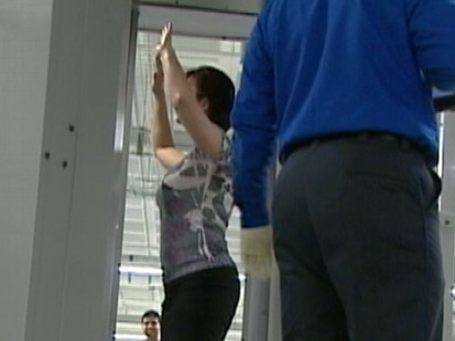 VIDEO: Critics say the new body searches are too personal for airline passengers.