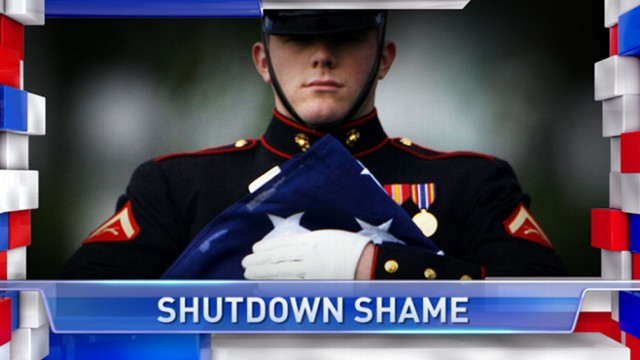 VIDEO: Military benefits held up for families of soldiers killed in action because of the shutdown.
