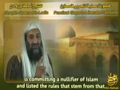 VIDEO: Bin Laden Condemns Israeli Offensive