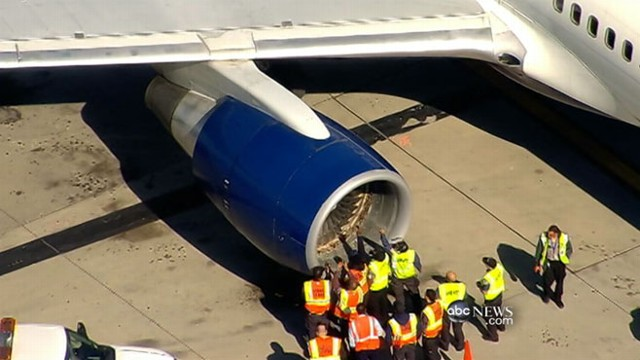VIDEO: Collision with birds knocks out Delta flights engine, fills cabin with smoke.