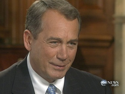 VIDEO: The Next Speaker of the House John Boehner sits down with Diane Sawyer.