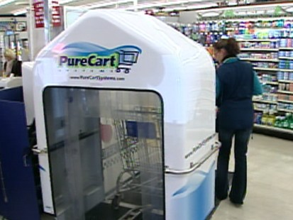 Dirty Grocery Carts Get Hi-Tech Wash