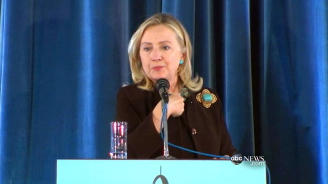 VIDEO: Secretary of State Hillary Clinton addresses young Libyans.