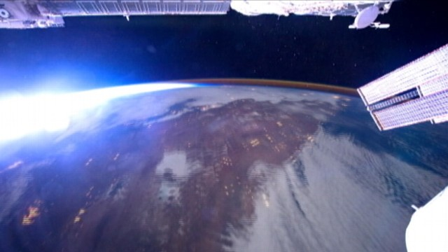 VIDEO: Images are taken from the International Space Station as it orbits Earth.