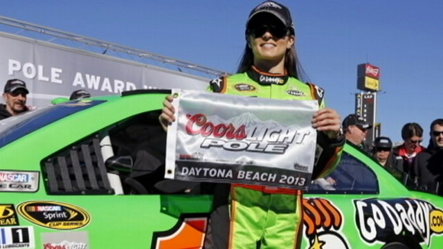 VIDEO: This is the first time that a woman has won the lead spot for NASCARs most prestigious race.