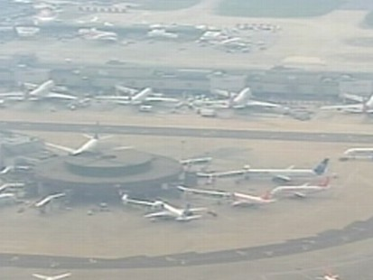 VIDEO: Ash from a massive volcanic eruption in Iceland has halted Europe-bound flights.