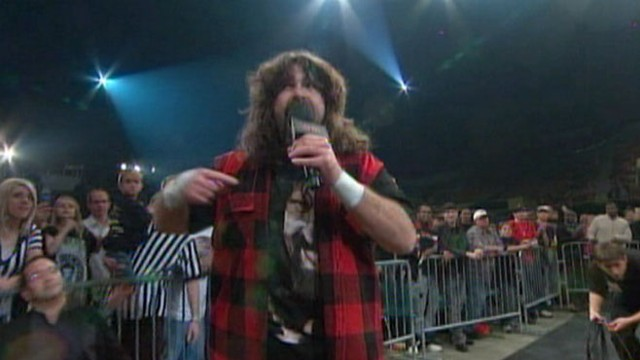 VIDEO: Mick Foley brings an unusual voice to rape crisis group.