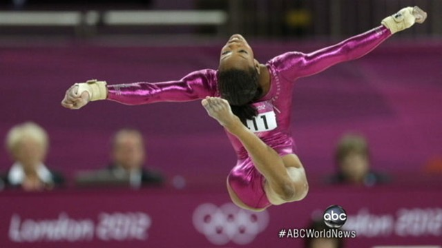 VIDEO: U.S. gymnast lands top spot in the all-around competition.