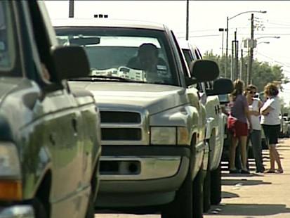 Evacuees Stuck in Traffic