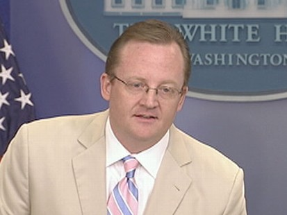 VIDEO: The press secretary refutes rumors he is quitting after losing his cool.