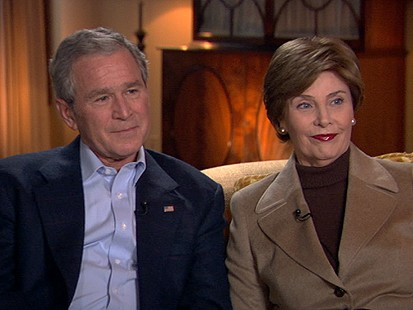 President George Bush and First Lady Laura Bush