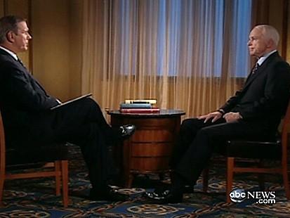 Charles Gibson with John McCain