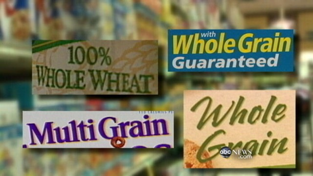 "VIDEO: Labels on ""whole grain"" and ""whole wheat"" products can often be deceiving."