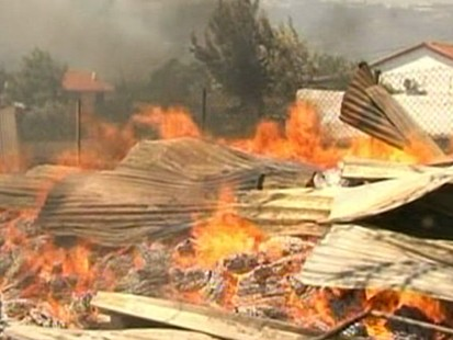 VIDEO: Fighting the fires in Greece