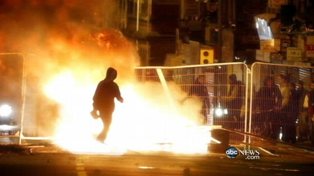 VIDEO: Police attempt to restore order, and try to find meaning in the mayhem.