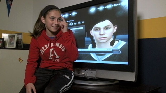 VIDEO: Lexi Peters, 14, wrote to Electronic Arts about creating a female character.