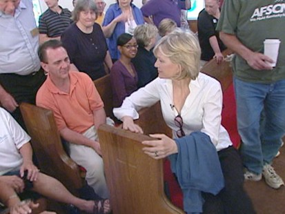 VIDEO: Diane Sawyer returns home to Louisville to see how people are surviving through the recession.