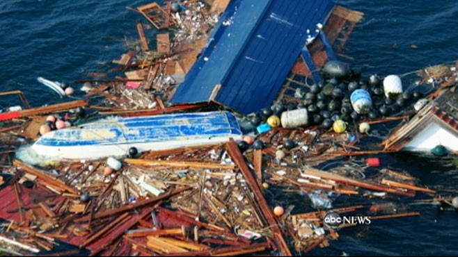 VIDEO: A massive debris field in the Pacific is a grim reminder of the catastrophe.