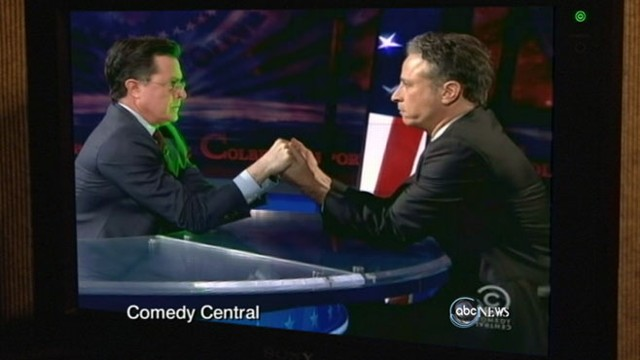 VIDEO: Jon Stewart, Stephen Colbert expose power of the political action committee.