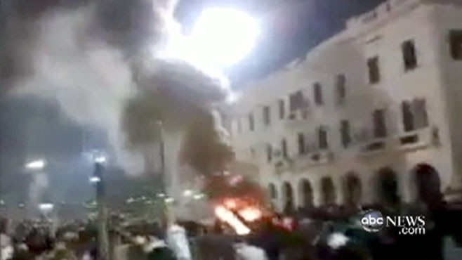 VIDEO: Alex Marquart reports from inside Libya where violence and chaos have broken out.