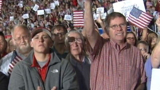 VIDEO: New polls show white males as key constituency for Romneys White House win.
