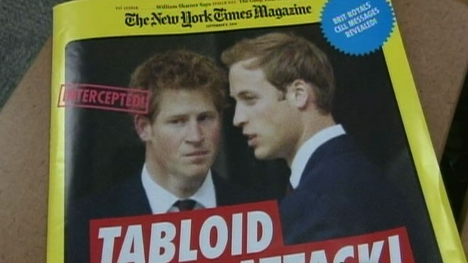 VIDEO: A London newspaper has been accused of tapping the royal family?s phones.