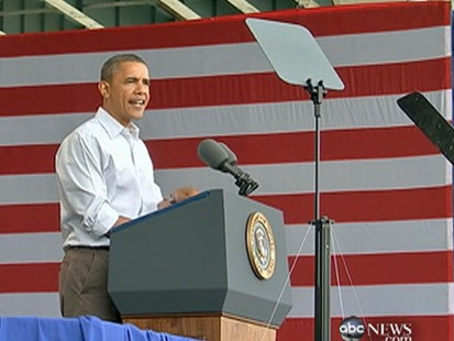 VIDEO: The president campaigned in Wisconsin to tout his new jobs plan.