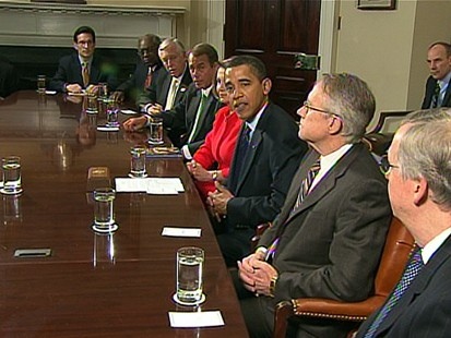 VIDEO: Obama Lobbies for Stimulus Package