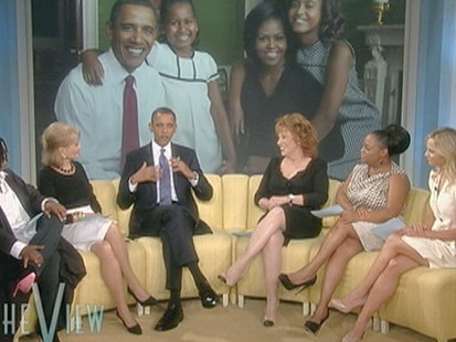"VIDEO: The president discusses a family game with Barbara Walters on ""The View."""