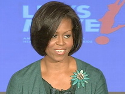VIDEO: First lady uses her own life lessons to help parents fight childhood obesity.