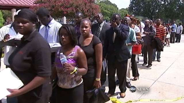 VIDEO: Thousands look for work in Atlanta.