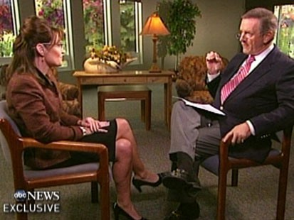 Picture of Sarah Palin and Charles Gibson