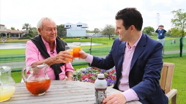 VIDEO: The renowned golfer discusses the secret of his famous beverage.