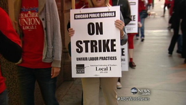 VIDEO: 29,000 teachers take to the picket lines after negotiations fail.
