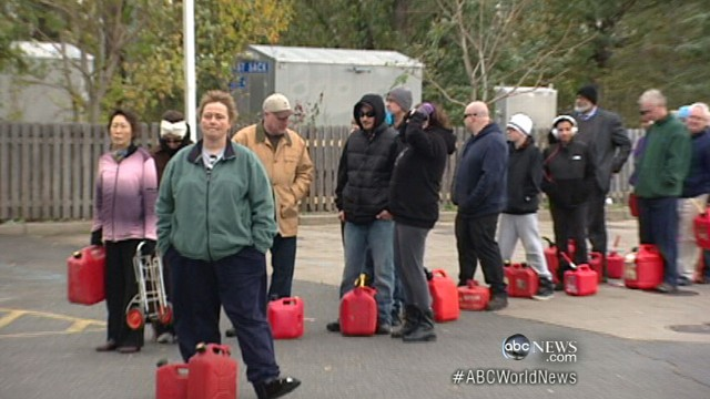 VIDEO: Lack of fuel, millions without power after Hurricane Sandy.