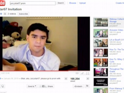 VIDEO: High school kids use YouTube videos to ask their dates to prom.